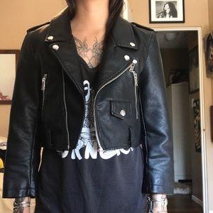 Jackets & Blazers - Noisy May crop leather jacket